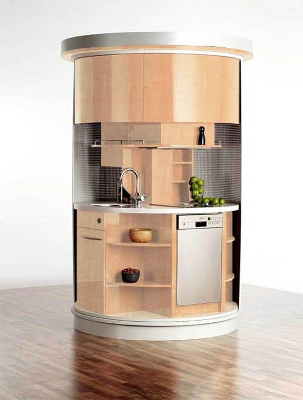 ตกแต่งห้องครัวขนาดเล็กมาก ในหอพัก คอนโด