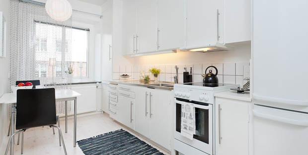 แบบห้องครัวสีขาว ในคอนโด
