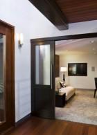 แบบประตูสวยๆ ขอบไม้ บานกระจก