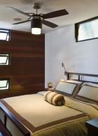 ห้องนอนสวย ใช้พัดลมติดเพดาน