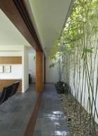 จัดสวนข้างกำแพง ด้วยต้นไผ่