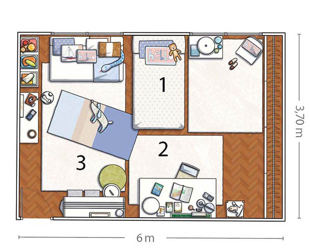 แผนผังห้องนอน