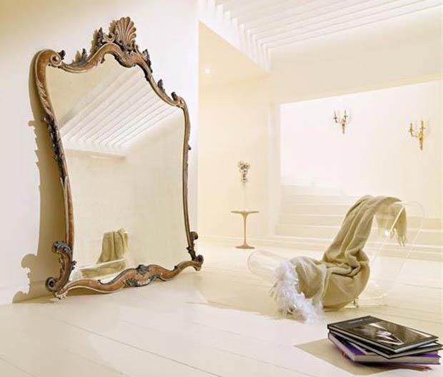 กระจกเงาบานใหญ่ สีทอง
