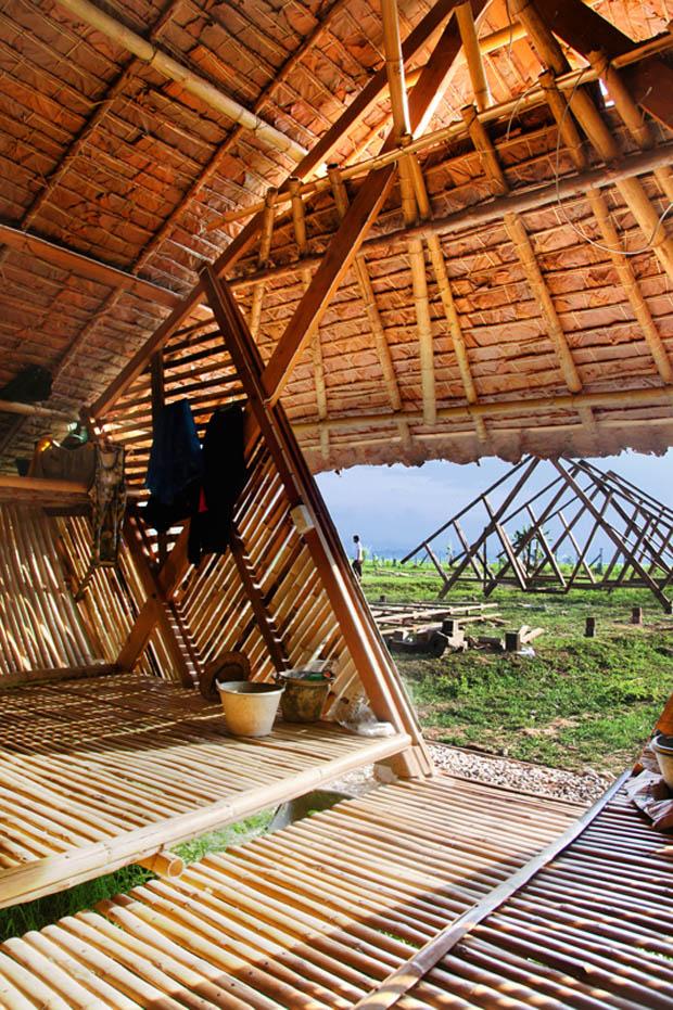 บ้านไม้ไผ่ สร้างบ้านไม้ไผ่