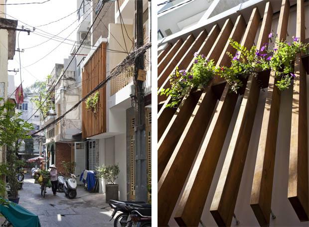 จัดสวนแขวน หน้าบ้านตึกแถว ทาวน์โฮม
