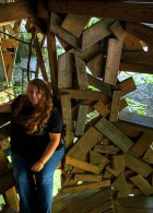 สร้างบ้านจากไม้ทั้งหลัง