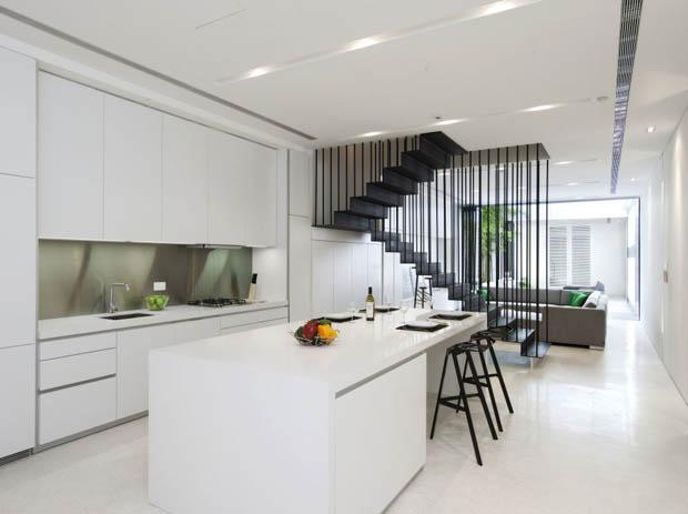 แบบห้องครัวสวย จัดรวมกับห้องนั่งเล่น