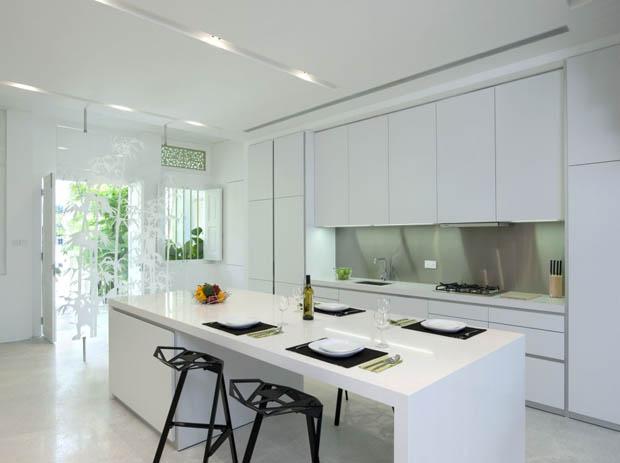 ห้องครัวสีขาว สวยเรียบโมเดิร์น