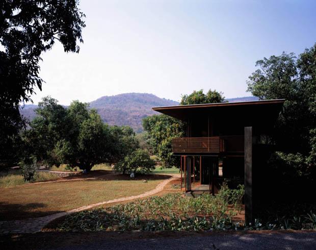 แบบบ้านในสวน บ้านไม้ 2 ชั้น
