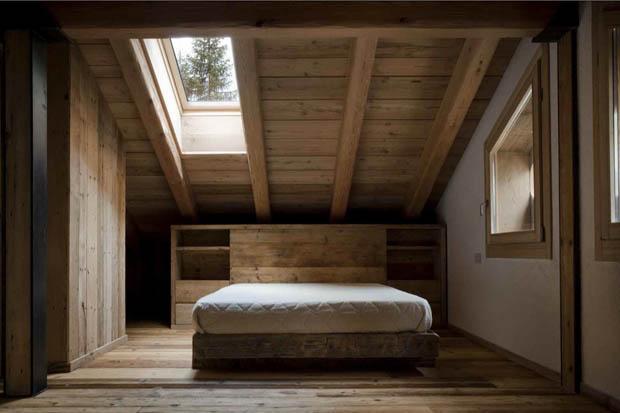 แบบห้องนอน สไตล์ Loft Country