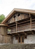 แบบบ้านไม้ 2 ชั้น มีระเบียงหน้าบ้าน