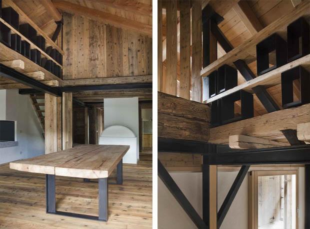 สร้างบ้านไม้สองชั้น เน้นงานดิบ