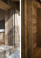 ฝาผนังบ้านไม้ ประตูบ้านไม้