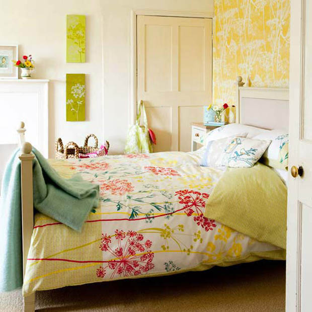 for Pastel pink and yellow bedroom