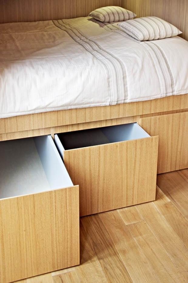 เตียงนอน มีลิ้นชักใต้เตียง