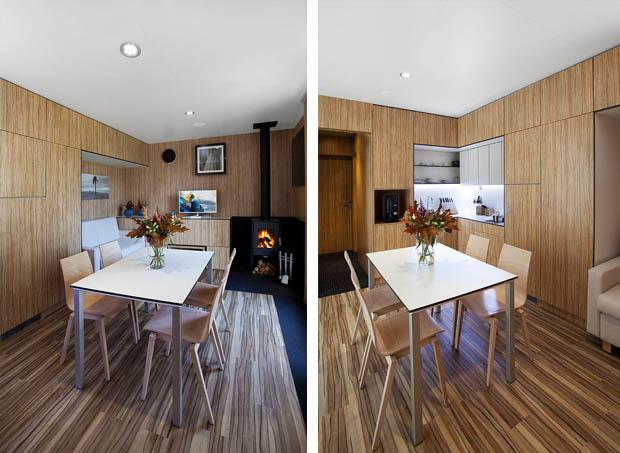 ห้องครัวขนาดเล็ก กระทัดรัด มีโต๊ะอาหาร