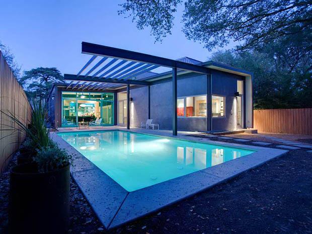 สระว่ายน้ำ แบบบ้านมีสระว่ายน้ำ