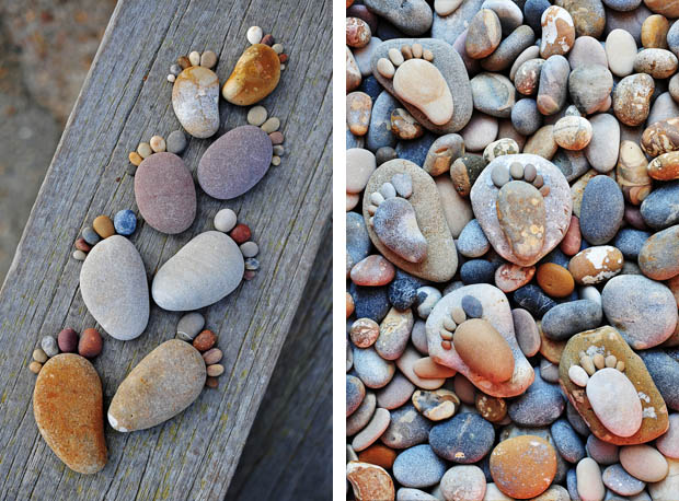การจัดวางหิน ให้สวย