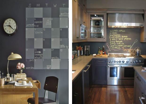แต่งห้องครัว ด้วยกระดานดำ