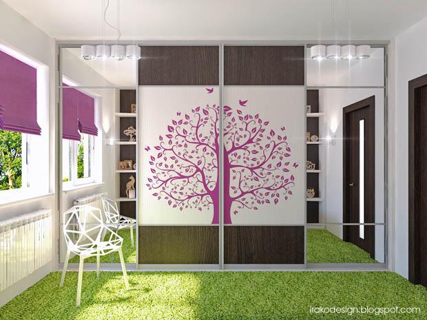 ลายสติ๊กเกอร์ รูปต้นไม้ แต่งบ้าน