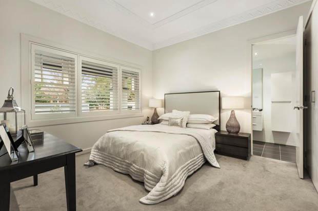 ห้องนอนสวยๆ เรียบง่าย โทนสีขาว
