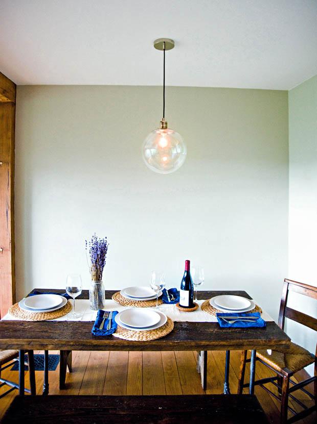 โคมไฟสวยๆ ในห้องรับประทานอาหาร