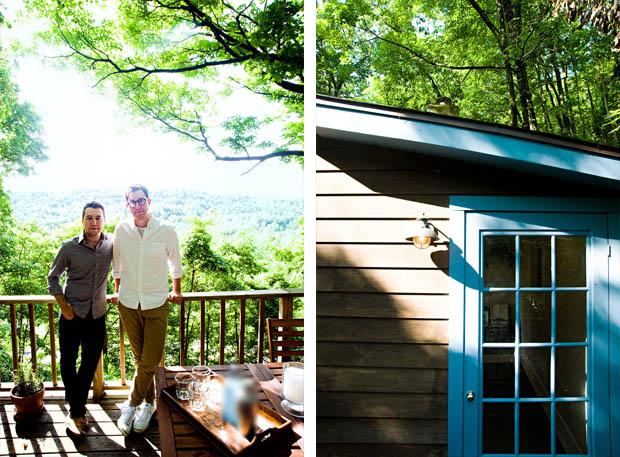 หน้าต่างบ้านไม้ ทาสีฟ้า