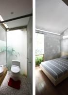 ห้องน้ำสวยๆ ภายในห้องนอน ขนาดเล็ก