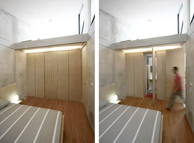 ห้องนอน มีห้องน้ำในตัว ปิดซ่อนในผนัง