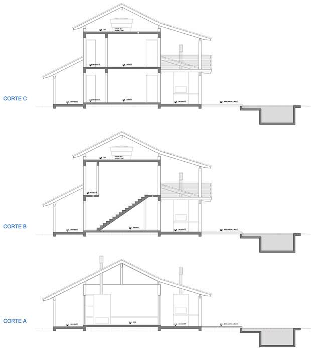 แปลนบ้านไม้ กึ่งปูน นำไปสร้างได้