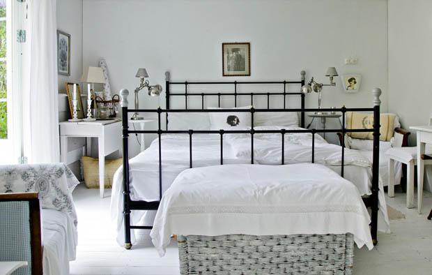 ห้องนอนสีขาว สไตล์วินเทจ