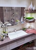 แบบห้องน้ำสีม่วงมีเสน่ห์