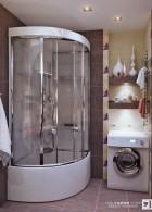 ตู้อาบน้ำเข้ามุมสีขาว