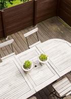 โต๊ะไม้ เก้าอี้ไม้ สำหรับกลางแจ้ง