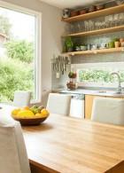 ห้องครัวออกแบบให้โล่งโปร่ง