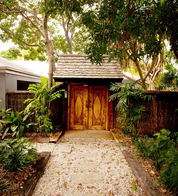 ซุ้มรั้ว ประตูรั้วไม้ รั้วประตูบ้าน