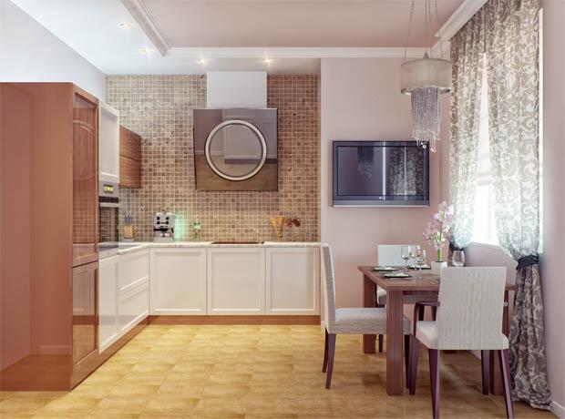 แบบห้องครัวโทนสีอบอุ่น