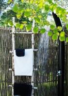 ห้องอาบน้ำในสวน อาบน้ำกลางแจ้ง