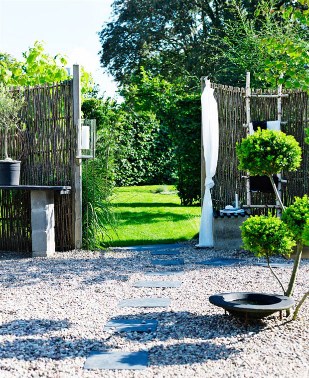 ประตูรั้วไม้ จัดสวนสวยๆ