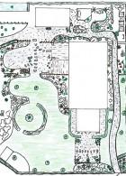 ผังแปลนจัดสวน บริเวณบ้าน สวนพอเพียง