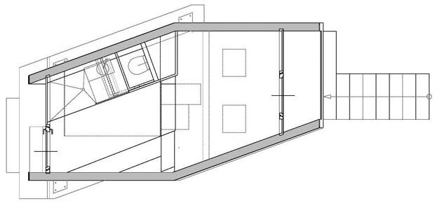 แปลนบ้านสำเร็จรูป ชั้นเดียวเล็กๆ