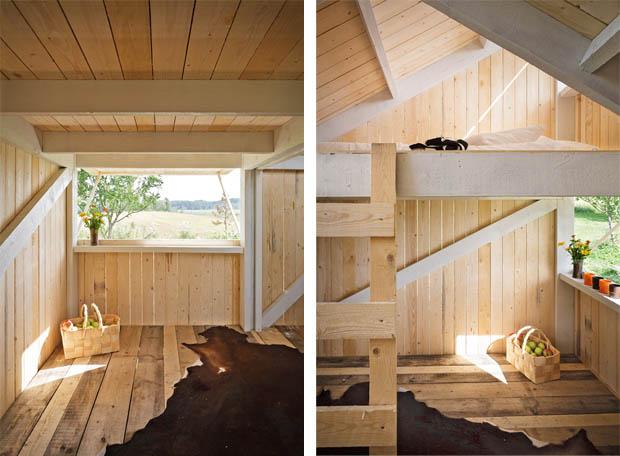 ห้องนอนใต้หลังคา บ้านหลังเล็กๆ