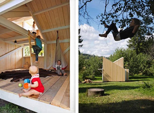 สร้างบ้านสำหรับเด็กๆ สนุกสนาน