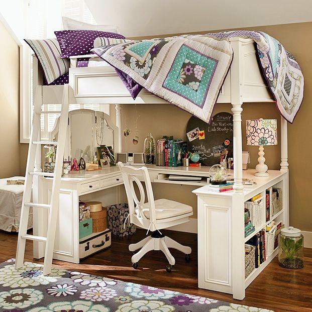 เตียงนอนชั้นลอย เพิ่มมุมโต๊ะทำงานไว้ใต้เตียง คุ้มค่าทุก