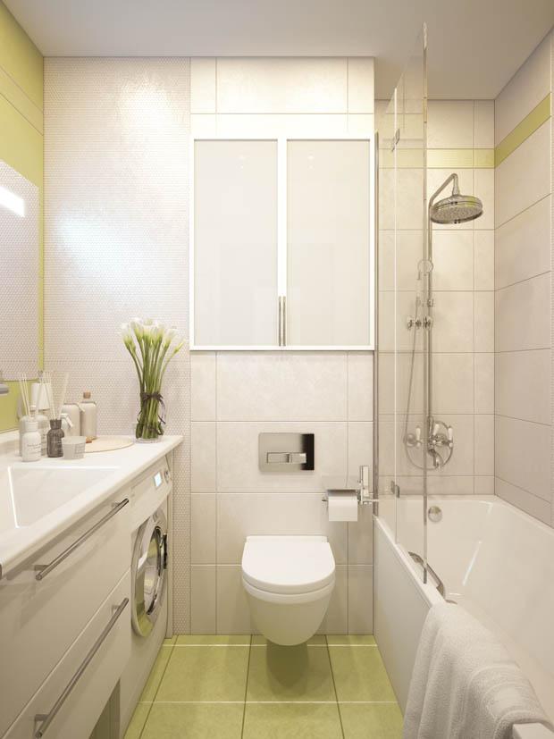 ตกแต่งห้องน้ำสีเหลือง