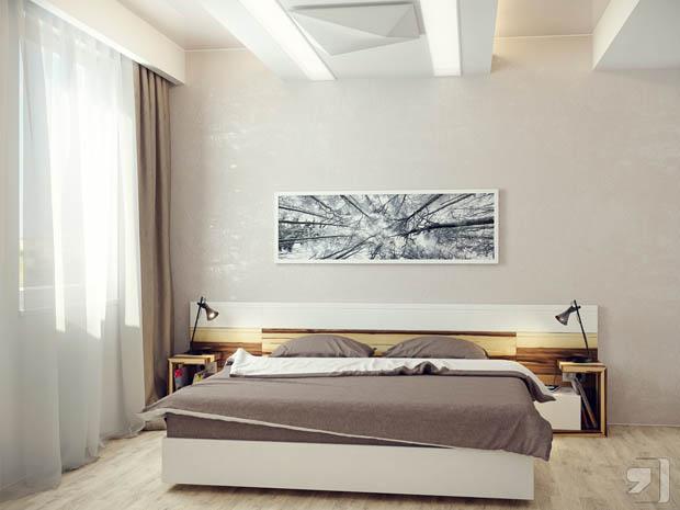 แบบห้องนอนสีเทา ตกแต่งอย่างพอดีสำหรับคนรุ่นใหม่