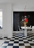 แต่งห้องครัวสีขาวดำ