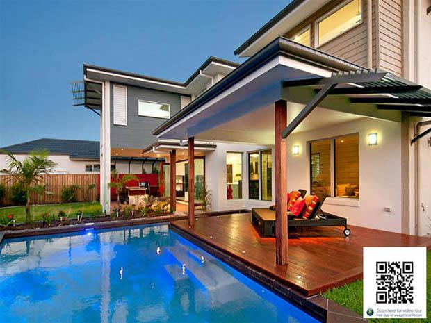 ออกแบบหลังบ้านสวย มีสระว่ายน้ำเล็กๆ