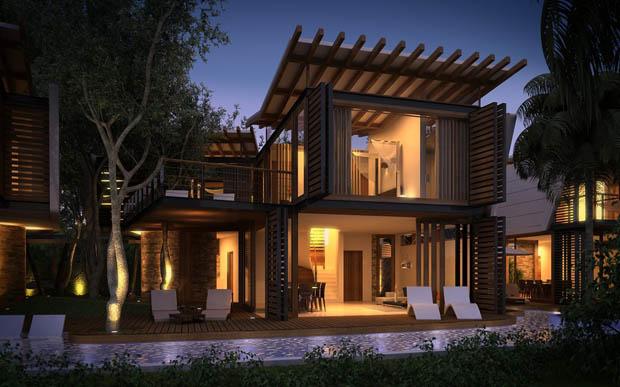 การออกแบบบ้านไม้ ให้ดูโปร่ง น่าอยู่