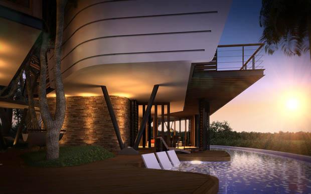 แบบบ้านไม้ ออกแบบทันสมัย สวยมาก